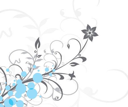 Grunge flower background with waves, element for design, vector illustration Stock Vector - 5156703