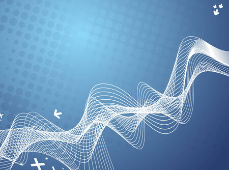 abstract vector background with arrow wave lines Vector