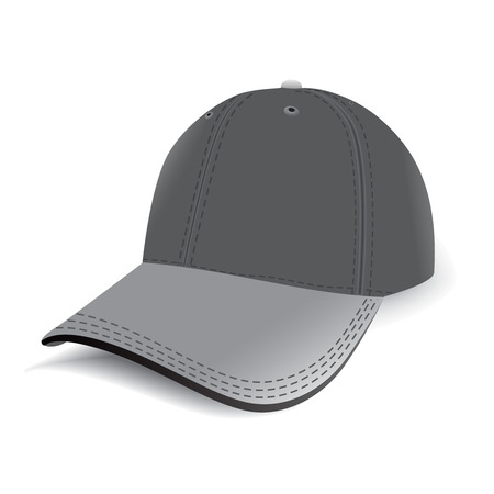 vector Sports cap on white background Vector