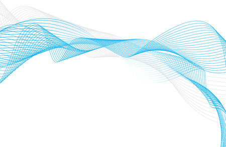 dynamic movement: resumen onda media l�nea azul composici�n, ilustraci�n vectorial