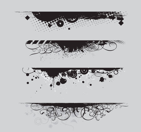 four different Grunge banners with place for your text. Stock Vector - 5167592