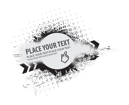 grunge vector composition with halftone urban backgroung Stock Vector - 5170301