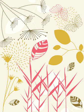 floral design elements with more floral background of this type please check my gallery Vector