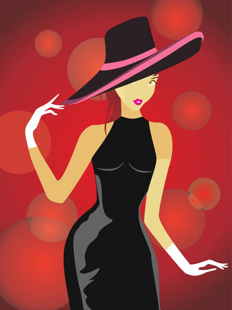 vector illustration beauty girls people illustration woman females Vector