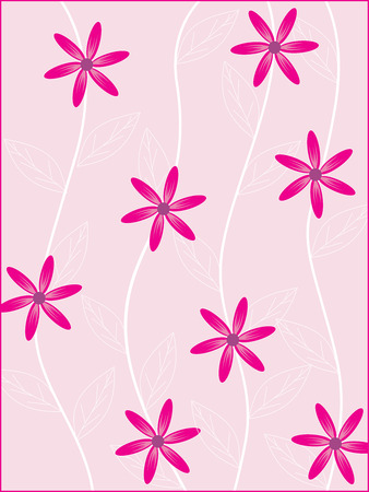 Pink flower with Floral background. To see similar, please visit my portfolio Vector