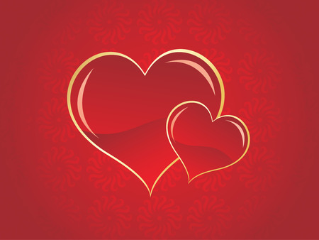 Valentines Day background with filigree ornament Vector