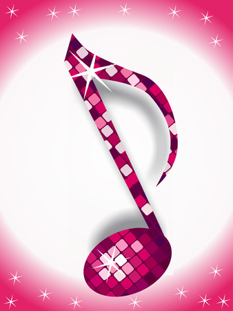 music note with disco light of this type please check my gallery Vector