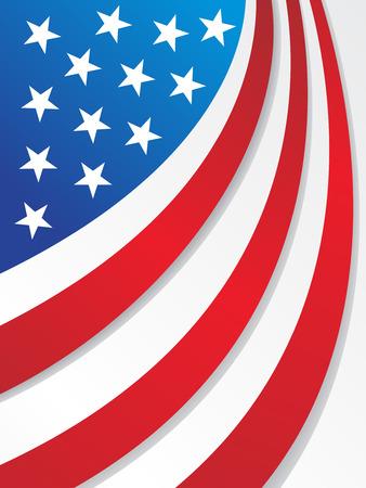 ville usa: USA flag style soleil pour les autres �l�ments de design drapeau s'il vous pla�t Cheak mon portefeuille Illustration