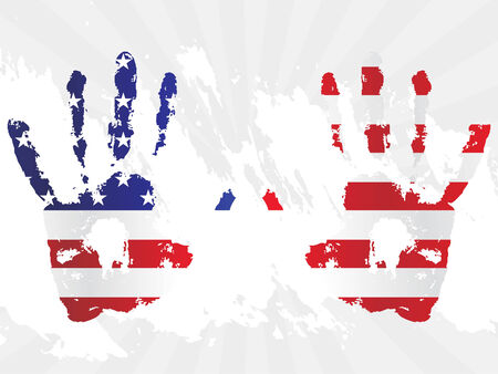 voter: grunge hand USA flag for other flag design elements please cheak my portfolio