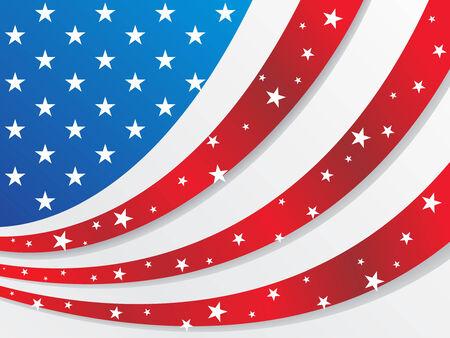 USA flag style sunburst for other flag design elements please cheak my portfolio Vector