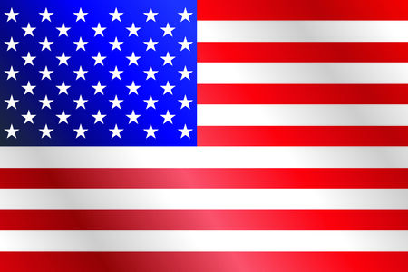 proportions: US flag background with exact official colors and proportions