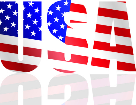 USA flag in style Stock Vector - 5170299