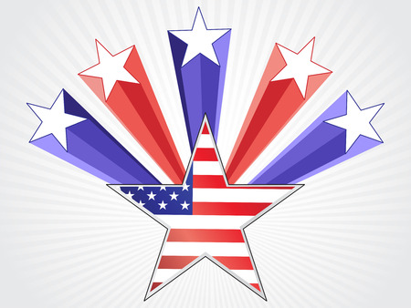american flag background: American flag background with star background Illustration