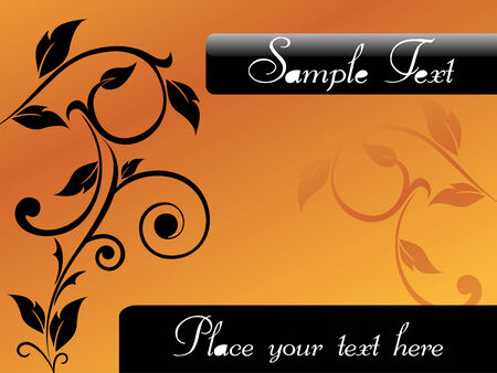 floral card design with place of sample text Vector