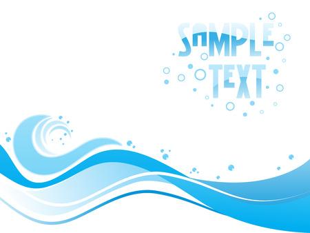 curvas: Dise�o abstracto de tonos azul con lugar de texto de ejemplo  Vectores
