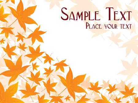 Beautiful vector leaves background with place in sample text Vector