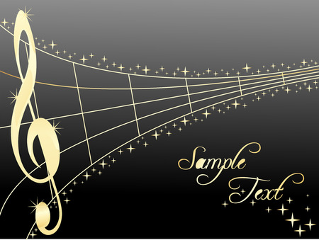 melodist: Abstract musical lines with music notes. Vector illustration