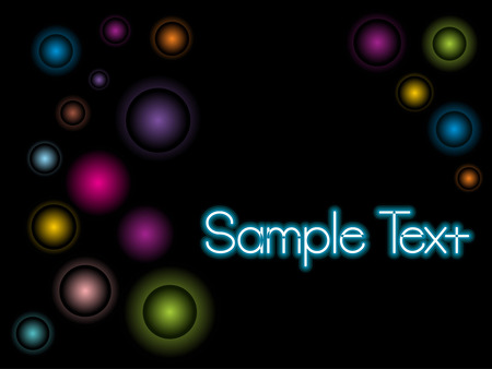 Abstract retro circles with sample text background. Vector illustration Stock Vector - 5181642