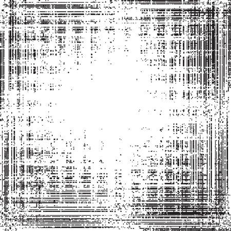pix: Ink splat overlayed with grunge border - vector Illustration