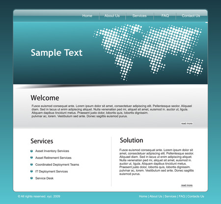 Vector technology website template for more template of this type please visit my gallery Stock Vector - 5292946