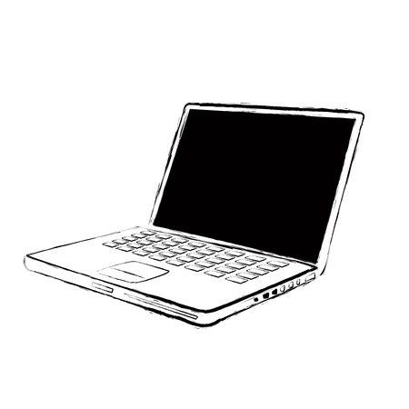 vector laptop with grunge and aged textured  Vector