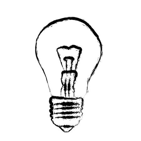 grunge light bulb vector illustration Vector