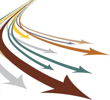 lots of arrows vector illustration Vector