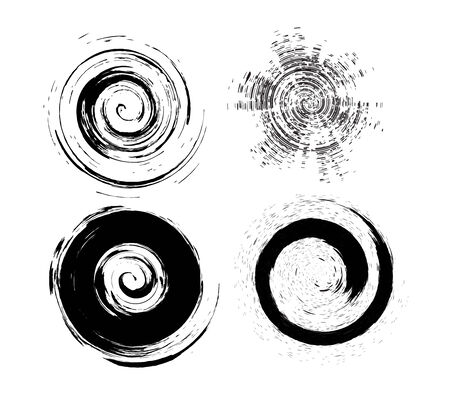 four different type vector circle Grunge brushes  Stock Vector - 5292971