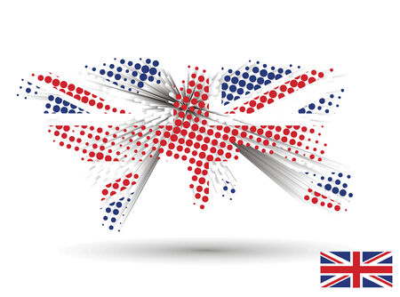 3d vector united kingdom flag with sample of the uk flag. (Only gradient used, easy to edit ) Stock Vector - 5315939