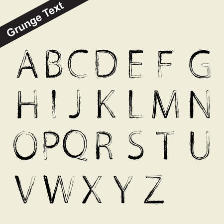 schaalbaar: vector schaalbare grunge alfabet letter type - brief symbool Stock Illustratie