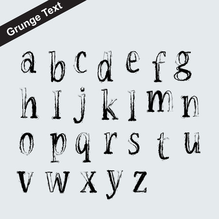 Scalable grunge alphabet font - letter symbol Vector