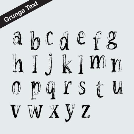 schaalbaar: Schaalbare grunge font alfabet - brief symbool