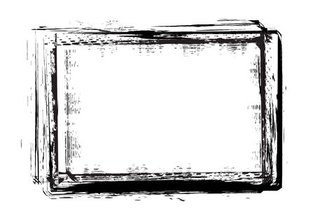 grunge frames  in vector mode with white background Vector