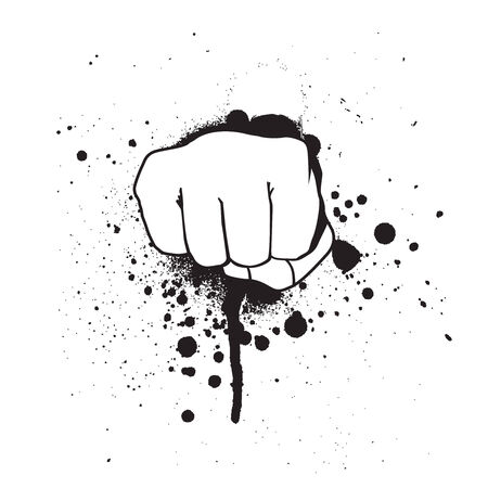 vector grunge hand isolated on a white background Vector