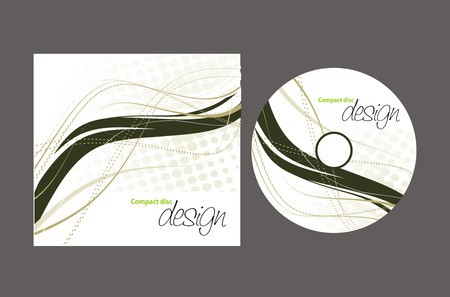 vector cd cover design template with copy space  Vector