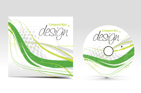 vector cd cover design template with copy space  Illustration