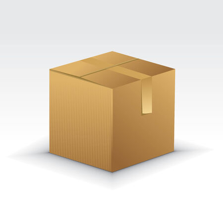 storage boxes: Cardboard Boxes Icons with cardboard box vector illustration isolated on white background