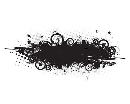 blob: grunge banner with an inky dribble strip,vector illustration  Illustration