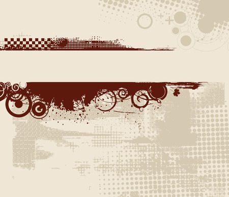 dribble: grunge banner with an inky dribble strip,vector illustration