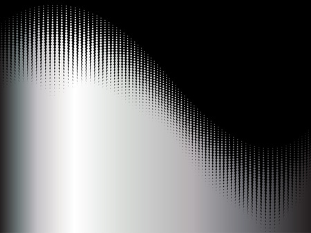 abstract vector wave halftone with sample text background Vector