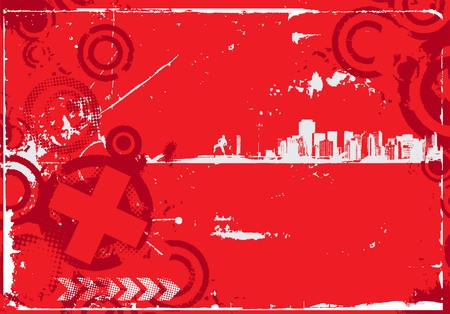 urban grunge: abstract urban grunge city background,vector illustration
