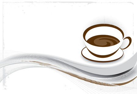 Abstract vector illustration for design. cofee illustration Stock Vector - 5600714