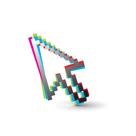 rainbow color vector mouse cursor symbol,vector illustration Stock Vector - 5600633