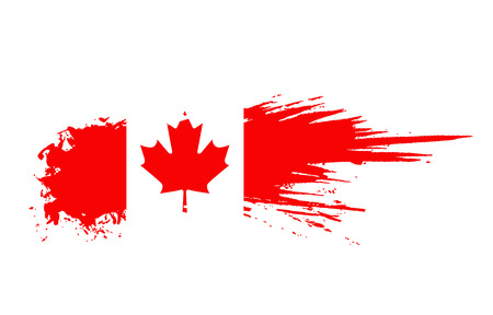 grunge canada flag background Stock Vector - 5805788