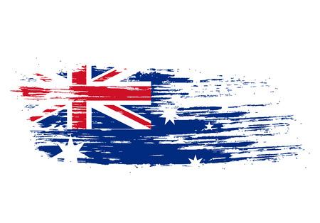 australia flag: grunge flag of Australia. Vector illustration Illustration