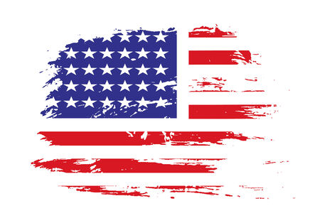 grunge american flag background Stock Vector - 5653238