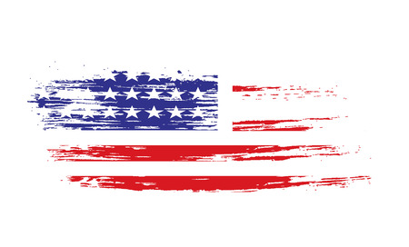 united state: grunge American flag background Illustration