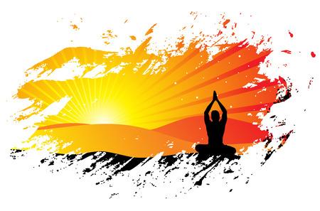 prachtige jonge jongen buitenshuis yoga oefening doen