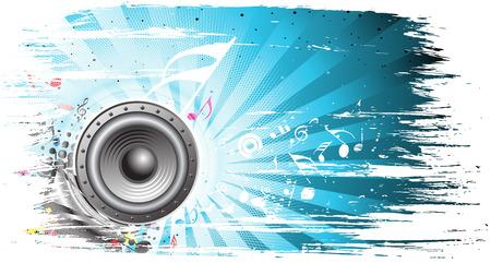 geluid: Bezoek mijn galerie thema van de muziek voor meer achtergrond van dit type Stock Illustratie