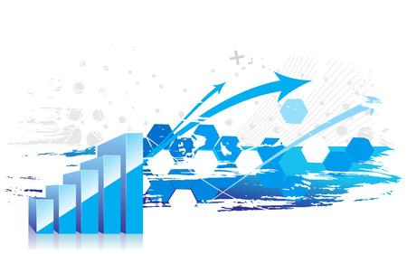 earnings: 3D Grafik, die Anstieg der Gewinne oder Einnahmen mit Beispiel-Text-Hintergrund.